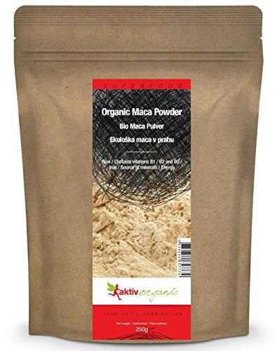 Aktiv Organic Bio Maca Pulver, 250g, Premium Qualität, Macapulver aus Peru
