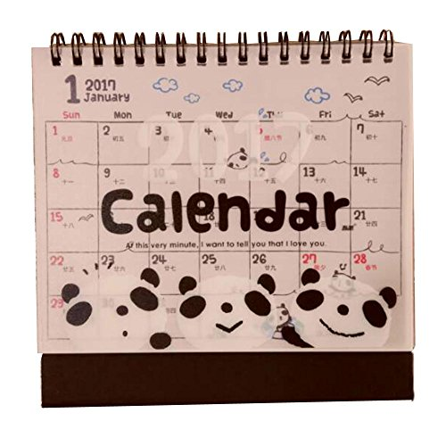 2016 Cartoon Animal Desktop Calendar Bilingual Calendar [Cute Panda]