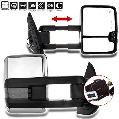 - SCITOO Towing Mirrors fit Chevrolet GMC Automotive Exterior Mirrors fit 2007-2014 Chevrolet Silverado GMC Sierra (07 for New Body) with Amber Turn Signal Power Controlling Heated Back up Light
