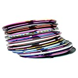 30X Mixed Color Rolls Striping Tape Line Nail Art Tips Decoration Sticker DIY US