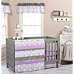 Trend Lab 3 Piece Florence Crib Bedding Set Purple