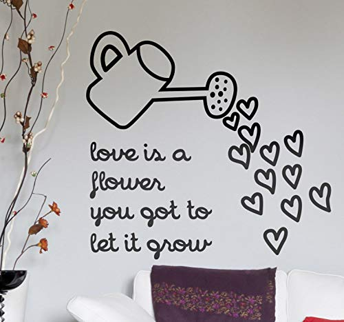quantd Wall Words Sayings Removable Lettering Mind Games Lyrics Sticker Love is a Flower You got to let it Grow for Living Room Bedroom -