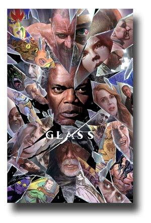 Glass Poster Movie Promo 11 x 17 inches Unbreakable 2 Bruce Willis Samuel L Jackson Comic Con 2018 (Bruce Willis Poster)