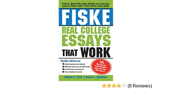 Amazon.com: Fiske Real College Essays That Work (0760789226441 ...