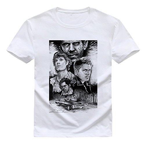 Evil force Supernatural t-shirt Men's short sleeve DIY Tee tops Sam and Dean Winchester Brother T-shirt American TV series