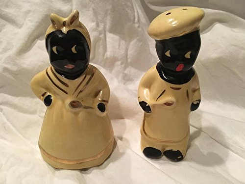 (Vintage Black Americana Salt and Pepper Shakers (5