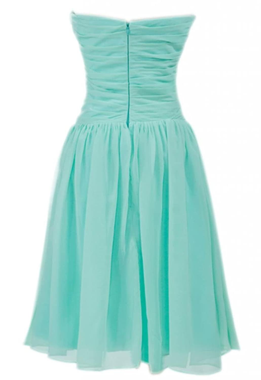 PrettyDresses Women\'s Mint Green Short Bridesmaid Prom Wedding Party ...