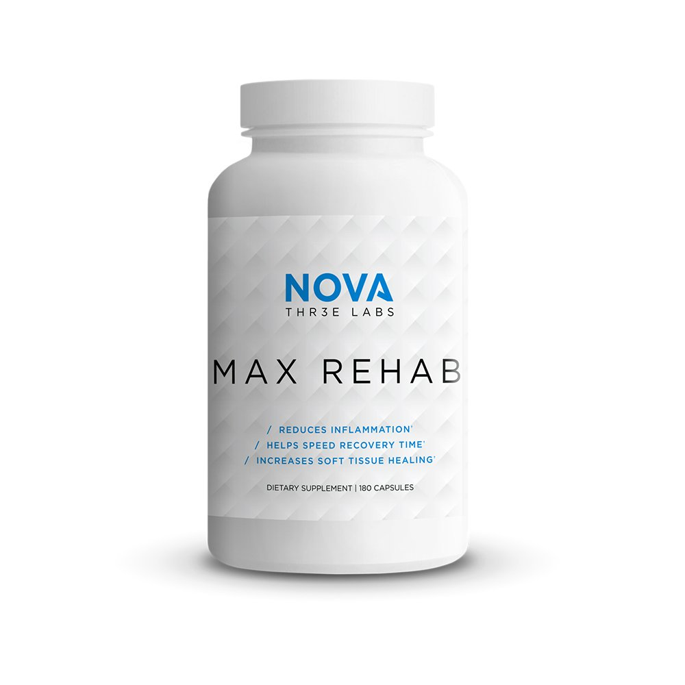 NOVA Three Labs | Max Rehab | Reduces Inflammation, Helps Speed Recovery Time & Increases Soft Tissue Healing | 60 Servings by NOVA Three Labs