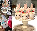stbeyond Unicorn cupcake Toppers and Wrappers - 24