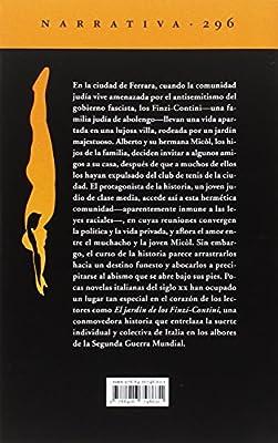 El jardín de los Finzi-Contini: La novela de Ferrara. Libro tercero Narrativa del Acantilado: Amazon.es: Bassani, Giorgio, Méndez Borra, Juan Antonio: Libros