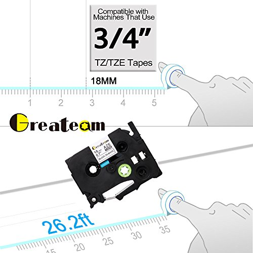 3 Pack Standard Laminated Tapes Compatible for Brother P-touch Label Maker TZ TZe Laminated Tape TZe-241 TZe241 TZ-241 TZ241 Black on White 18mm (3/4 Inch) x 26.2 ft. (8m) Photo #7