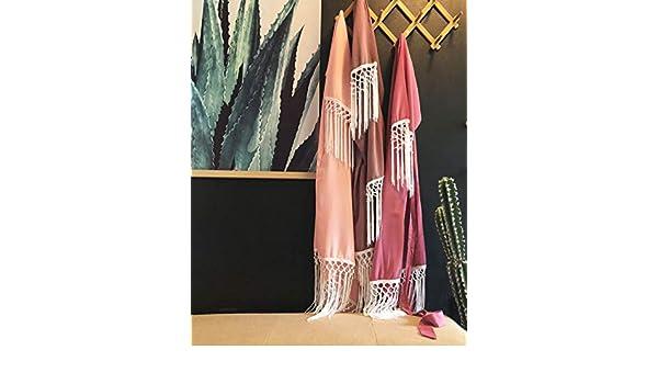 63ef35fd0 Amazon.com: Shop On Eleven Fringe Bridesmaid Robe Boho Kimono: Handmade