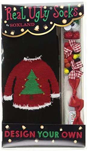 Real Ugly Sweater/Tree Christmas Sock Kit