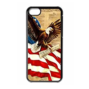 American flag free Eagle PC Hard Plastic phone Case Cover For Iphone 5c JWH9116801