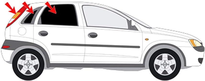 Solarplexius Sonnenschutz Autosonnenschutz Scheibentönung Sonnenschutzfolie 5 Türer Opel Corsa C Bj 00 09 Auto