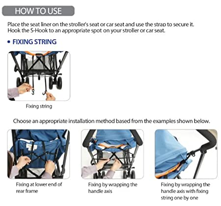 Orange Manito Breath Original 3D Mesh Seat Pad//Cushion//Liner for Stroller and Car Seat