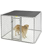 Midwest Homes for Pets Chain Link Portable Kennel-Includes A Sunscreen