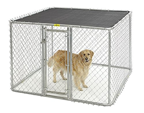 MidWest Homes for Pets Chain Link Portable Kennel – Includes a Sunscreen