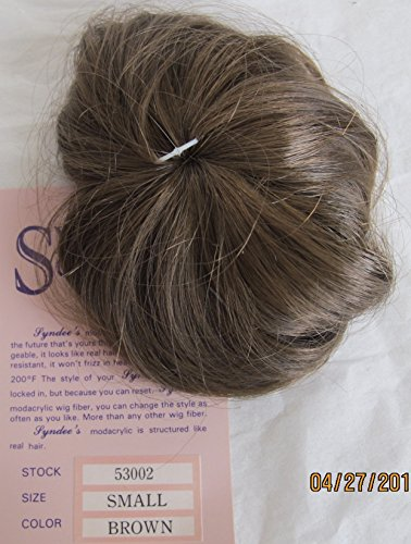 SYNDEE'S Crafts DOLL HAIR WIG Size SMALL Color BROWN (Made in Taiwan)