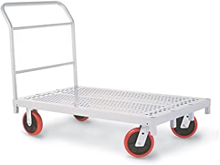 "product image for Heavy Duty Platform Truck Gray Paint Dimensions: 33""W X 56""D X 9""H Weight: 109 Lbs"