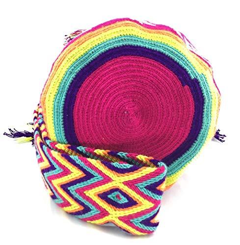 à tribaux Sac à fois dos colombiens la Alegrias les Wayuu hommes et femmes motifs avec sacs COLOMBIAN main les des STYLE à pour 7qCE5w