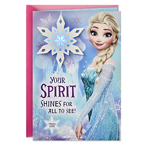 Hallmark Disney Frozen Musical Christmas Card for Kid (Plays Let it Go) (Christmas Greeting Cards Kids)