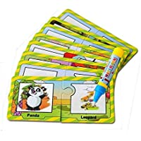 OFKP Children's Puzzle Card, Water Drawing Animal Graffiti Cognitive Painting Card Toddlers Kids