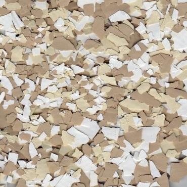 American Abrasive Supply VCPBLENDSA Vinyl Chip Blend Sand Blend 1//4