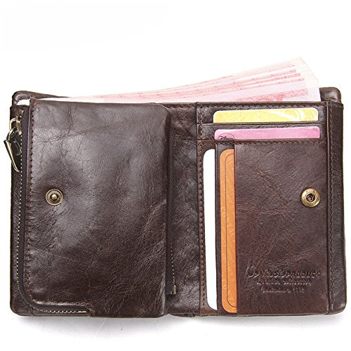 Trip Wallet Suitable everyday for Man Leather Color Wallet Shopping Coffee Business Refinement Brief Asdflina Card Coffee Zero Paragraph Package use OZ7IFF