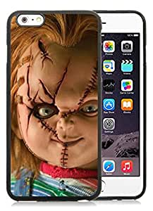 Scary Chucky Doll Black Case with Unique and Luxurious Protective for TPU iPhone 6 Plus 5.5 inch