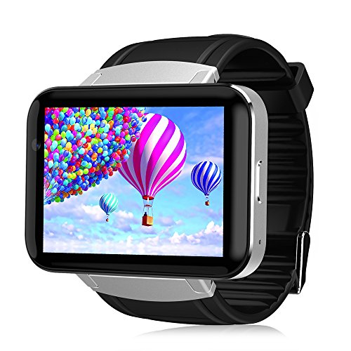 Smartwatch Phone, 2.2 inch Touch Screen 3G MTK6572 Dual Core 1.2GHz 4GB ROM Camera Bluetooth Watch Phone for Android Samsung HTC Sony LG HUAWEI (Silver Black) by Smart for Life