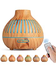 Essential Oil Diffuser, Remote Control, Ultrasonic Humidifier, Aromatherapy Diffusers with Waterless Auto-Off, for Bedroom/Office/Yoga Room