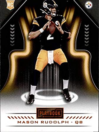 487044980 2018 Panini Playbook Orange  110 Mason Rudolph Rookie Pittsburgh Steelers  RC NFL Football Trading Card