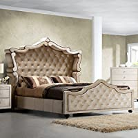 Meridian Furniture Diamond Canopy Velvet Bed, King