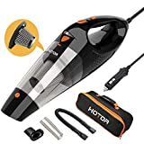 HOTOR Car Vacuum Cleaner High Power, Vacuum Cleaner for Car, DC 12V Portable Handheld Auto Vacuum for Car Use Only, The Best Car Vacuum – Black & Orange