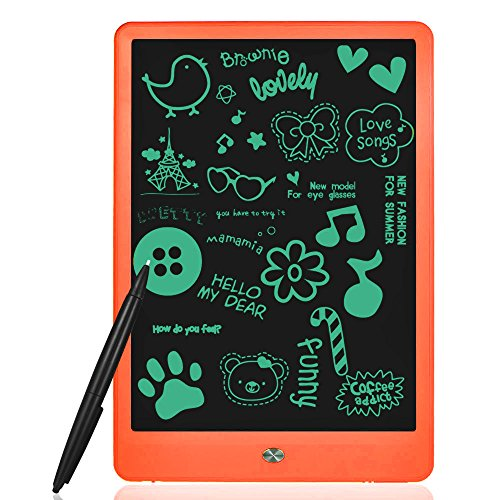 LCD Writing Tablet, Highwinner 10 inch Electronic Writing Board Digital Drawing Graphic Doodle Tablet,Portable Handwriting Notepad (Orange) by Highwinner