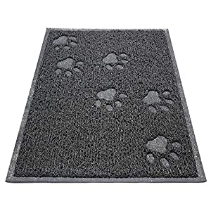 "Asobeage Premium Cat Litter Mat(30""X24"") Litter Trapping Mat, Cat Litter Box Mat Scatter Control,Waterproof Double Layer…"