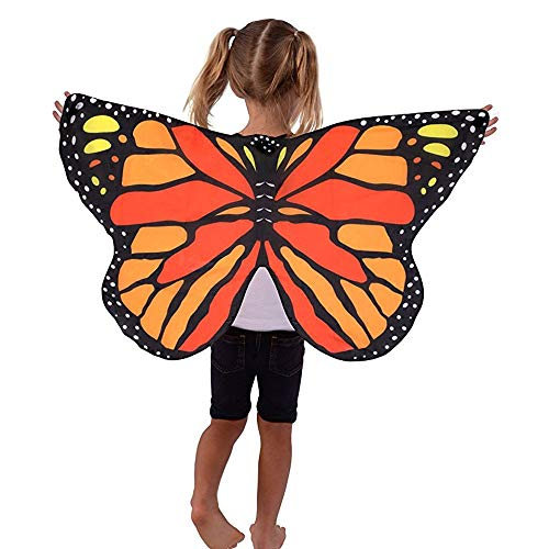 2017 Halloween/Party Butterfly Wings Shawl Fairy Ladies Nymph Pixie Costume Accessory (100X50CM, U9 (Child))