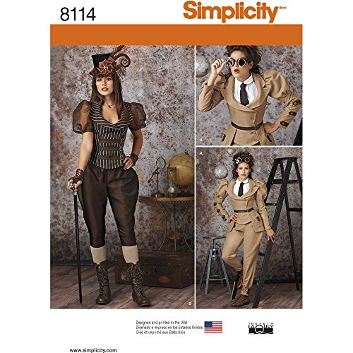 Simplicity Creative Patterns 8114 H5 Misses' Steampunk Costumes, Size H5 (6-8-10-12-14)