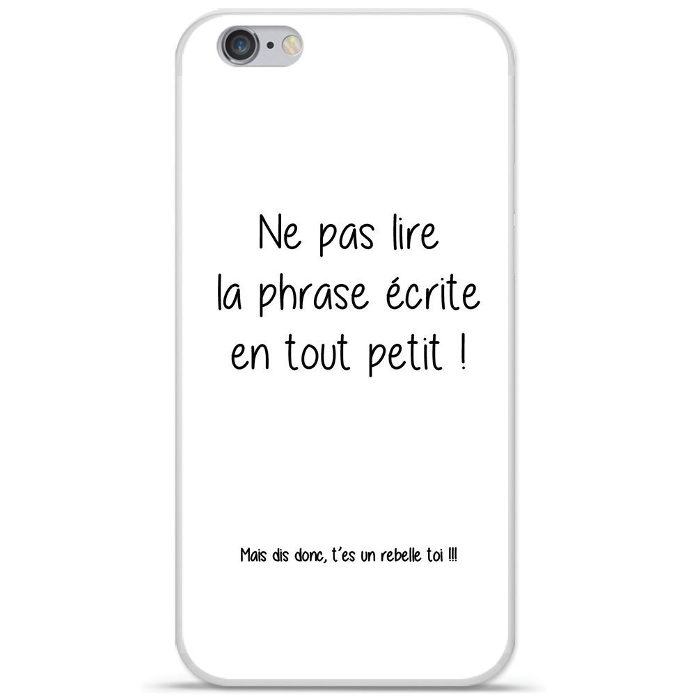 coque iphone 7 plus phrase