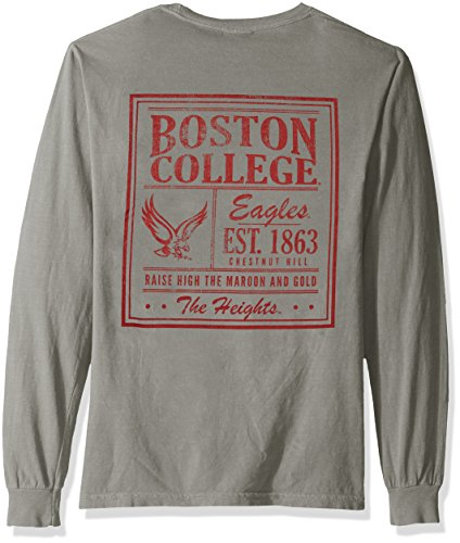 purchase cheap d7008 7a173 NCAA Boston College Eagles Vintage Poster Long Sleeve Comfort Color Tee,  Medium, Grey