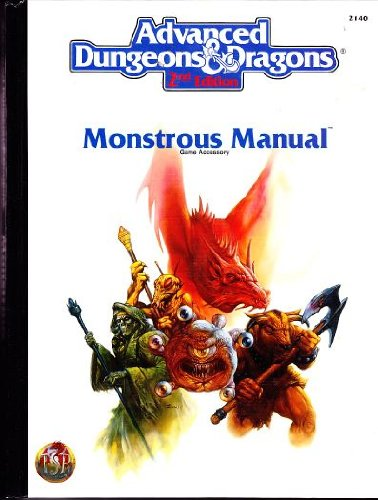 Monstrous Manual (AD&D 2nd Ed Fantasy Roleplaying Accessory, - Manual Monster 2