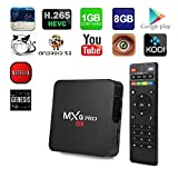 RBSCH MXQ Pro Android 5.1 TV Box Amlogic S905 Quad Core Chipset Kodi Full Loaded Lollipop OS TV Box 1G/8G 4K Google Streaming Media Players with WiFi HDMI DLNA