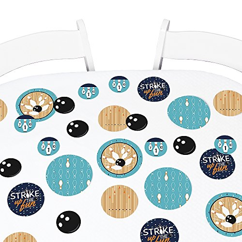 Big Dot of Happiness Strike Up The Fun - Bowling - Birthday Party or Baby Shower Giant Circle Confetti - Party Decorations - Large Confetti 27 Count]()