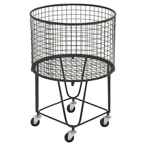 51rG3W1rgAL - DecMode Metal Roll Storage Basket