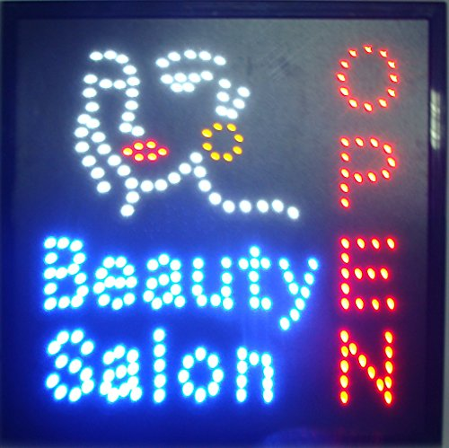 CHENXI led beauty salon hair salon sign billboard led neon light animated electronic animated led sign 48 X 25CM indoor (48 X 48 CM, A)