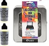 #3: Ranger Tim Holtz Alcohol Ink Storage Tin and TWO Alcohol Blending Solutions