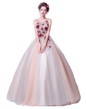 df6642bb641f3 YDY ウェディングドレス 花嫁 カラードレス ロング 二次会 披露宴 カラードレス レース パーティードレス 演奏会