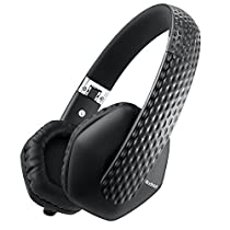 AudioMX On Ear Headphones, Noise Cancelling Lightweight Dynamic Headphones, Built-in HiFi Mic (Foldable and Wired)