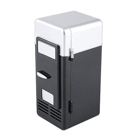Mini nevera eléctrica para nevera portátil con luz LED para coche ...
